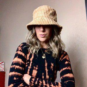 Super Soft 90s Tan Plush Corduroy Bucket Hat